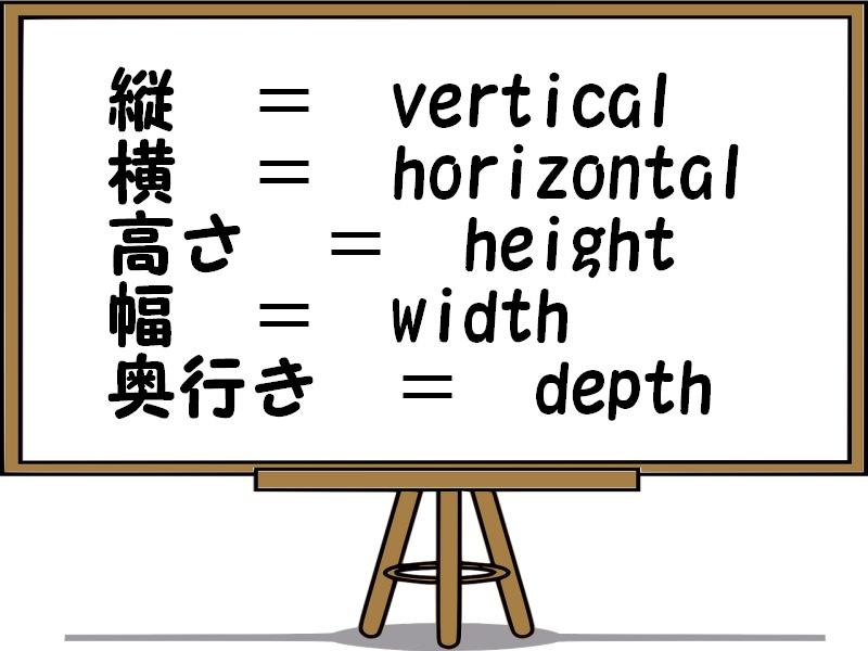 英語で縦・横・高さを解説!奥行きや幅などサイズを表す言葉も紹介