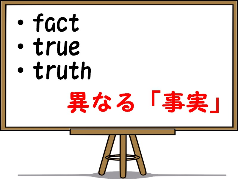 fact・true・truthの違い