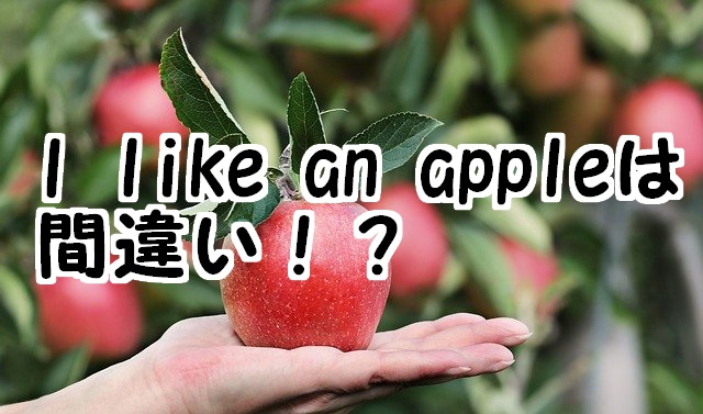 i like an appleは間違い?I like applesが正しい理由も解説